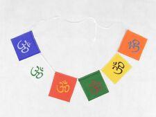 Hindu Buddhist Om 6 Colour Prayer Flags Fair Trade Made in India Hippy Decor