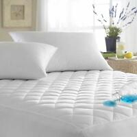 WATERPROOF QUILTED MATTRESS PROTECTOR TOPPER FITTED BED COVER SHEET ALL SIZES