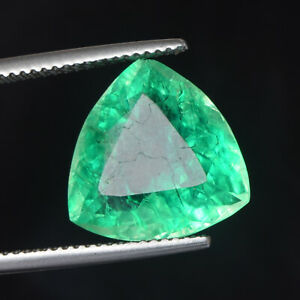 Brazilian Green Emerald Nano Crystal 8.55 Ct Lab Created Green Emerald EN-847