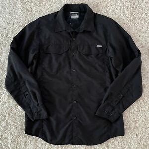 Columbia Long Sleeve Button Down Shirt Mens Medium Omni-Shade Roll Up Sleeve