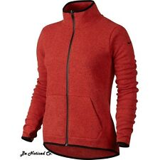 Nike Women's Hypernatural Therma-fit Full Zip Sweater S Red Gym Casual New