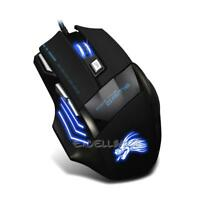 5500 DPI 7 Buttons LED Optical USB Wired Gaming Pro Gamer Mouse Mice Adjustable
