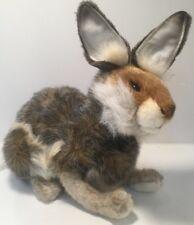 "Hansa Lifelike Hare Jack Rabbit Plush Animal 12"" Tall New"