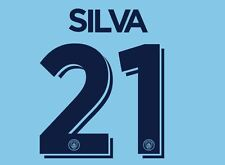 Silva 21 Manchester City 2016-2017 Cup Nameset for Home Football Shirt