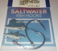 lot 20 EAGLE CLAW LAZER SHARP nickel SALTWATER SEA GUARD fish HOOKS 9/0 L318
