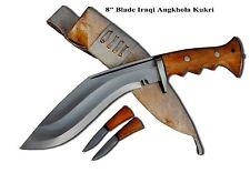 """Genuine Gurkha Kukri knife - 8"""" Iraqi, Panawal, Gripper Gurkha-Khukuri, knife"""