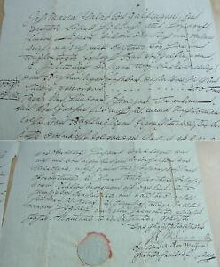 Schuldbrief Hitzkirch 1822: Evacuee Mary Thaler (= Theiler?) Leiht 400 Franken