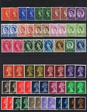 More details for gb qeii pre-decimal wilding & machin stamps mix of 58. phosphor, mnh condition.