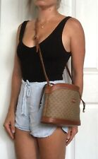 Authentic Vintage GUCCI Leather GG Brow  BAG PURSE Cross-body