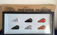 "HARLEY-DAVIDSON COLLECTIBLE ""GAS TANKS"" SHADOWBOX ORNAMENTS NEW IN BOX"