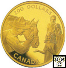 1993 22K $200 Gold 'Royal Canadian Mounted Police Horse' (10347)