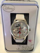 New Disney Minnie Mouse NURSE , White Leather Watch, Quartz. New/ Box/warranty