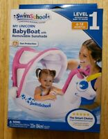 SwimSchool My Unicorn Baby Boat with Removable Sunshade 6-18 Months. Ships Free