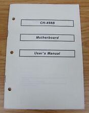 Genuine (CH-498B) Motherboard User's Manual / Instruction Guide Only **READ**