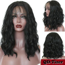 Short Body Wave Hair Lace Front Wig Black Full Bob Wigs Synthetic Heat Resistant