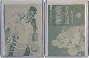 SET LOT of 2 ALONZO MOURNING 1995 CLASSIC #107 PRINTING PLATES CHARLOTTE HORNETS