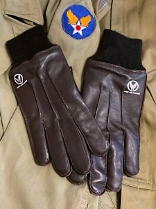 Reproduction A-10 Intermediate Flying Gloves, Leather, Brand New, WW2 Era USAAF