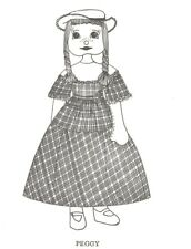 """16"""" doll body blouse petticoat skirt bloomer hat,shoes wig sewing pattern"""