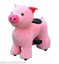 RECHARGEABLE MOTORIZED RIDE ON TOYS (MINI-PINK PIG) KIDS 3-10 YRS Giddy Up Rides