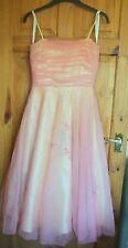 Flor de Noche Morgan yellow and coral prom dress size 10