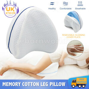 MEMORY LEG PILLOW  FOAM CONTOUR Orthopaedic Pillow Back Hips Knee Support Cover