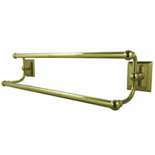 "Delta Oakley Polished Brass Double Towel Bar 24"" Long"