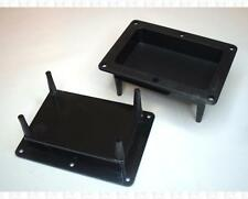 Blank Plastic Recessed Speaker Terminal Panels With PCB Mounts 5.5 X 4 Inch Pair