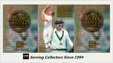 "1996 Futera Cricket Elite Caught Marsh Bowled Lillee ""SAMPLE"" REDEMPTION SET (3)"
