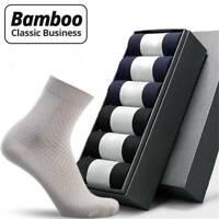 Men Summer Bamboo Fiber-Socks Business-Anti-Bacterial -Deodorant Breathable Sock