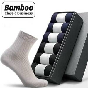 Men Bamboo Fiber Socks Business Anti-Bacterial Deodorant Breathable Sock /bw