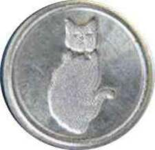"""Sitting Cat 3/4"""" brass seal die (to use with Murano Glass Handle)"""