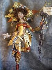 """*NEW* CLOTH ART DOLL (PAPER) PATTERN """"COLLAGE DOLL"""" BY CHRISTINE SHIVELY"""