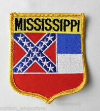 UNITED STATES MISSISSIPPI STATE SEW ON IRON ON PATCH 3 INCHES
