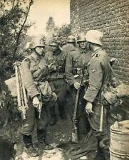 WWII B&W Photo German Soldiers Luger 1940  WW2 World War Two Wehrmacht  /2071