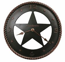 "Wall Clock 11"" Decorative Western Star Cowboys Rodeo Country Aged New Clocks"