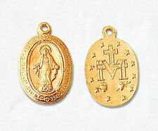 GOLD FILLED CROSS PENDANT BEAUTIFUL CHARM VIRGIN MARY POLISH 9x12MM