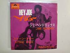 "JIMI HENDRIX: Hey Joe 3:22-Stone Free 3:34-Japan 7"" Polydor Records DP 1573 PSL"