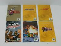 Nintendo 64 N64 Game Manual Booklet Instructions U Pick & Choose Video Games