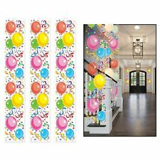 PARTY BALLOONS BIRTHDAY HANGING PARTY PANEL DECORATIONS SET 3