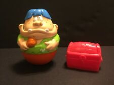 "Playskool Weebles Wobble Large 4.5"" Ogre 2005 Red Treasure Chest 2004 Hasbro"