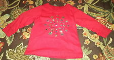 Boys Tommy Hilfiger T-Shirt Red w/ Silver Stars Size 3-6 Months