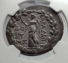 ARADOS in PHOENICIA Tyche Nike Ancient Silver Greek Tetradrachm Coin NGC i60127