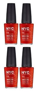 LOT OF 4 -NYC In A New York Color Minute Quick Dry Nail Polish 221 Spring Street