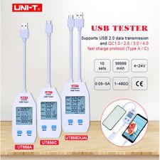 UNI-T LCD Digital USB Tester Power Capacity Volt Current Energy Detector Meter