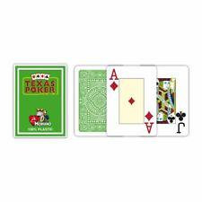 Modiano Texas Poker Jeu de Cartes 100% Plastique Vert Clair