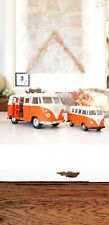 2 x Welly Set VW Volkswagen T1 Bus Bulli 1963 orange Modell 49764 1:60 34 Auto