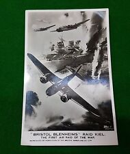 WW2 PHOTO POST CARD BRISTOL BLENHEIMS RAID KIEL 1ST AIR RAID OF THE WAR POSTCARD