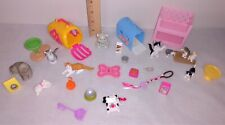 Barbie Pet Cat Kittens Kitty Carriers Food Toys Euc