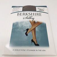 Berkshire Silky Sheer Leg Reinforced Toe Pantyhose Sz 3X - 4X Stone Control Top