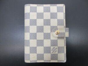 Auth Louis Vuitton Damier Azur Agenda PM R20706 Day Planner Good 95086